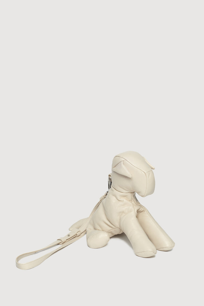 Leather Mutt Bag Cream
