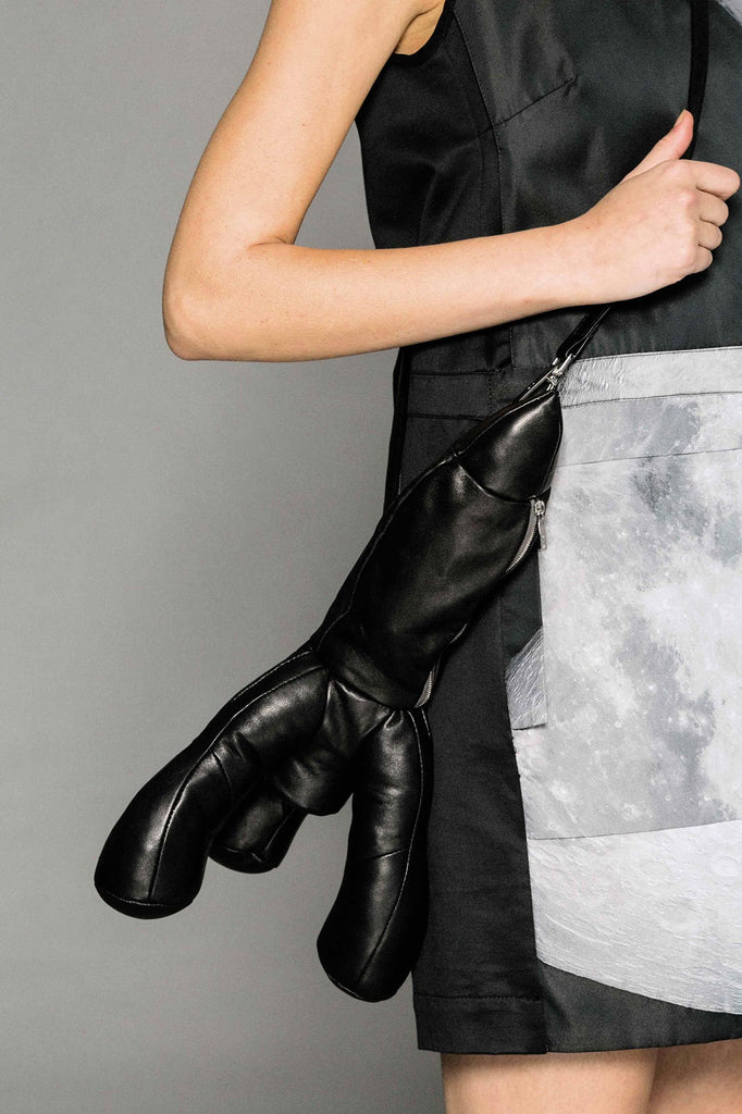 Leather Rocket Bag Black