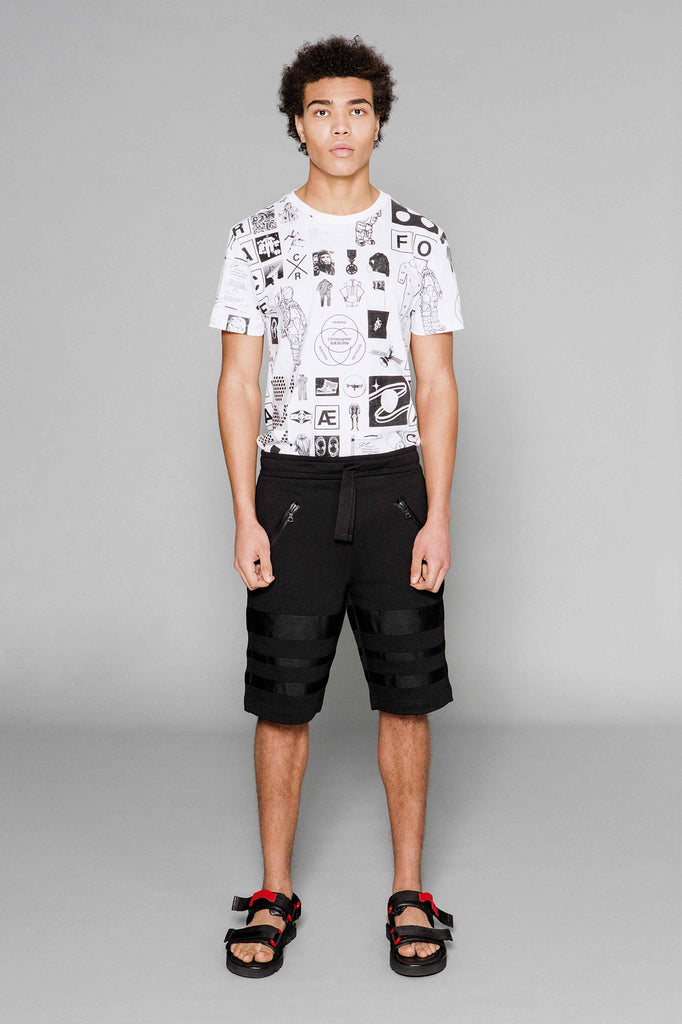 Grosgrain Jogger Shorts Black