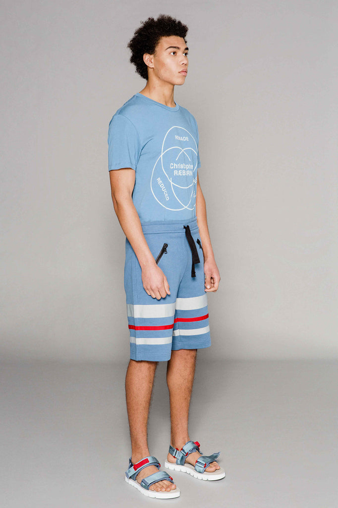 Grosgrain Jogger Shorts Blue