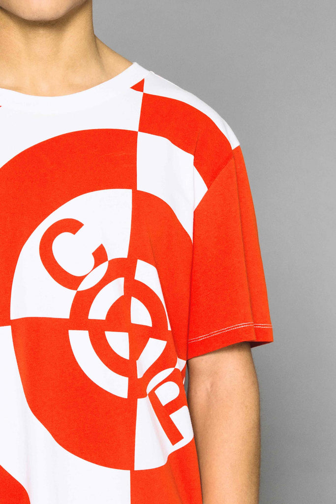 Oversized Parachute Logo T-Shirt Orange