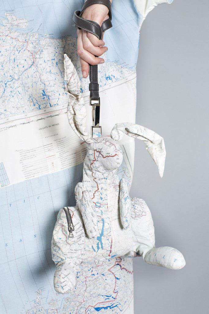 REMADE Silk Map Hare Bag