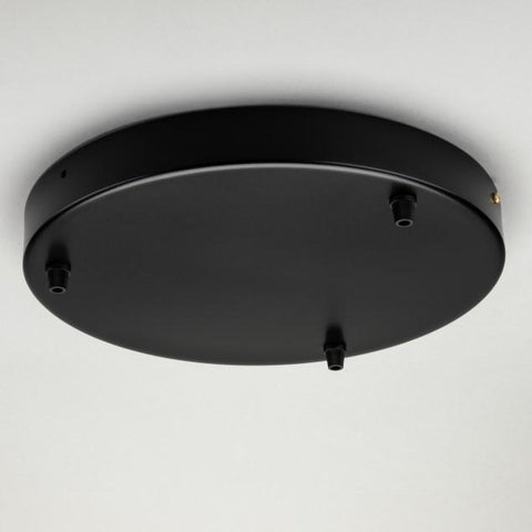 Black Steel Ceiling Rose Large 300mm - All Outlet Options