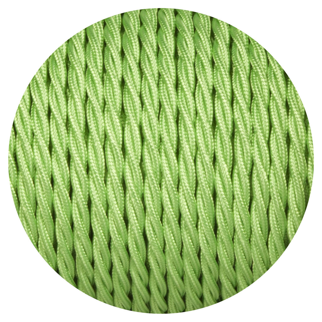 Apple Green Twisted Fabric Braided Cable