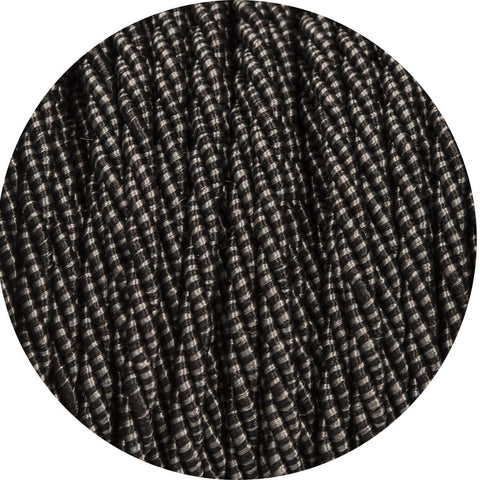 Carbon Black Twisted Fabric Cable