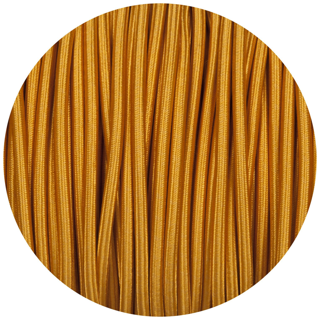 Celtic Gold Round Fabric Braided Cable