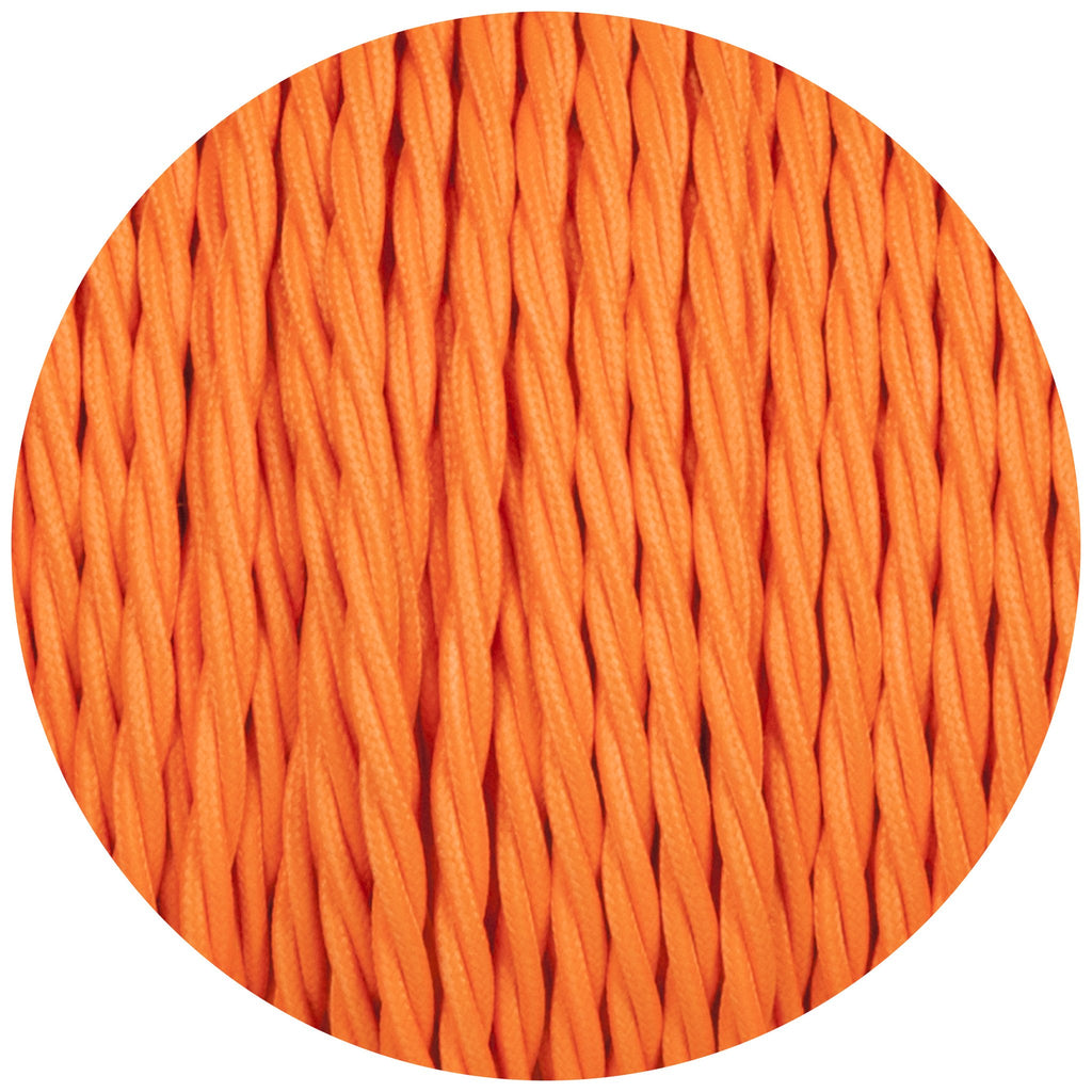 Flouro Orange Twisted Fabric Braided Cable