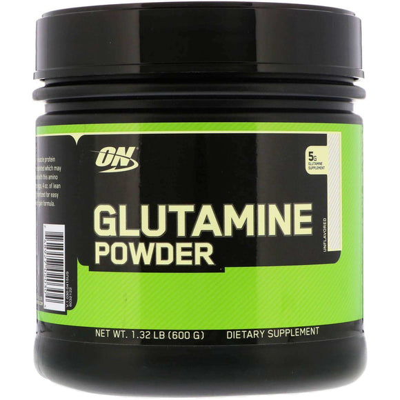 Glutamine Powder Unflavoured Optimum Nutrition 600g - Discount Active Nutrition - supplement store - supplement store near me - supplements store near me - recipes with protein powder - protein powder - protein powder vegan - protein powder near me