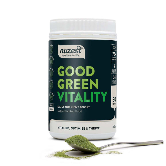 Good Green Vitality Nuzest 30 servings - Discount Active Nutrition - supplement store - supplement store near me - supplements store near me - recipes with protein powder - protein powder - protein powder vegan - protein powder near me