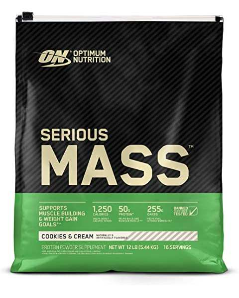 Serious Mass by Optimum Nutrition 5.44kg - Discount Active Nutrition - supplement store - supplement store near me - supplements store near me - recipes with protein powder - protein powder - protein powder vegan - protein powder near me