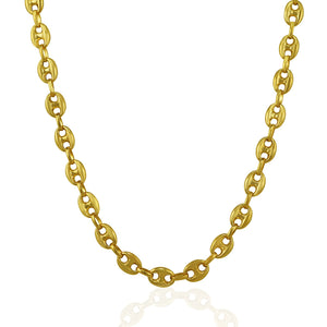 6.9mm 14k Yellow Gold Puffed Mariner Link Chain
