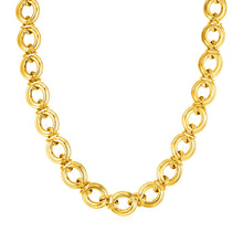 Load image into Gallery viewer, 14k Yellow Gold Polished Round Link Necklace