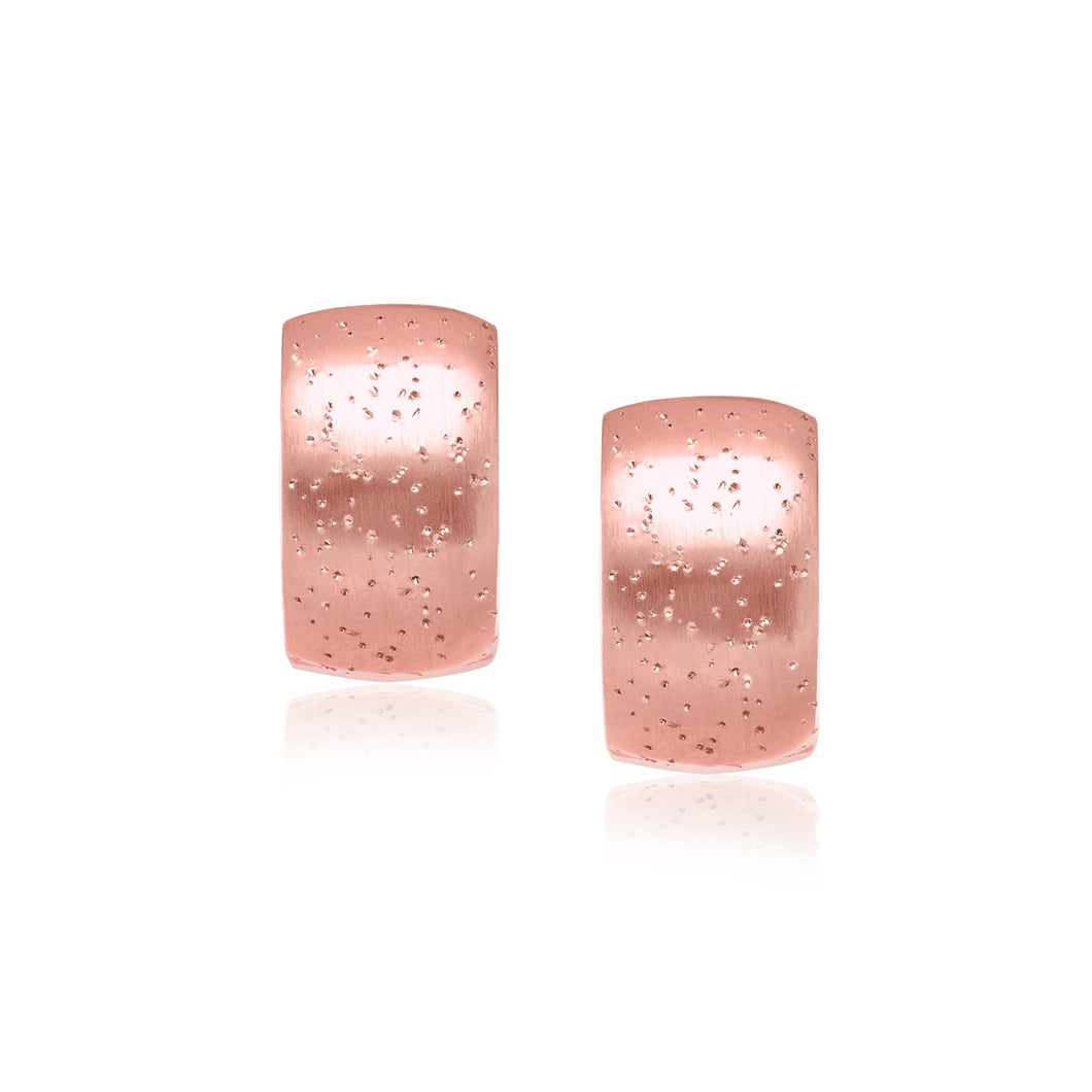 Sterling Silver Pink Tone Snuggable Stardust Style Earrings