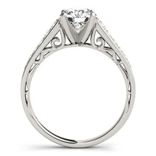 Load image into Gallery viewer, 14k White Gold Cathedral Design Diamond Engagement Ring (1 1/4 cttw)