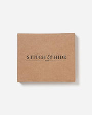 Stitch & Hide Tri Fold Button Wallet - Brown