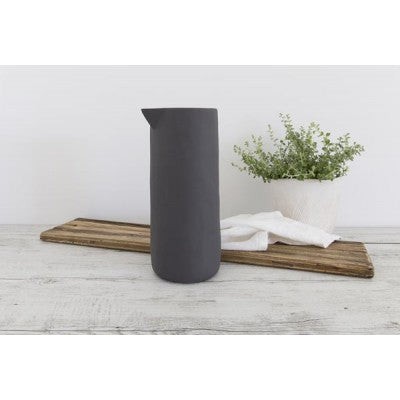 Flax Jug no handle 30cm - charcoal