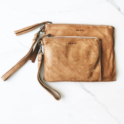 Juju and Co- Leather Flat Pouch