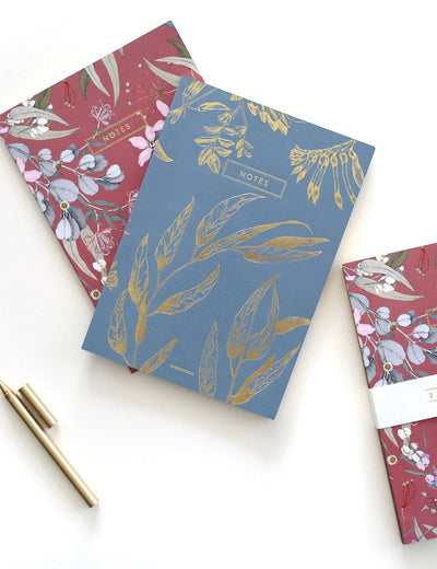 Bespoke Letterpress  - Bush Blossom Notebook x 2