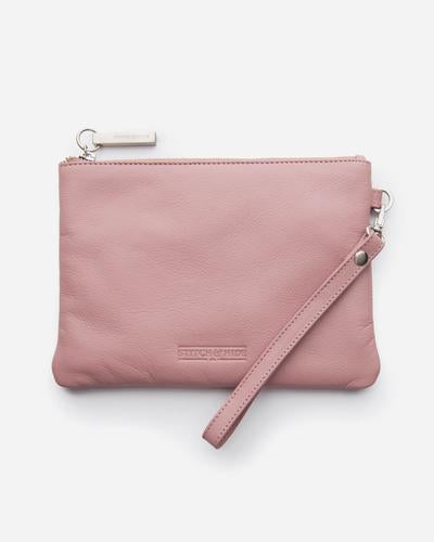 Stitch & Hide Cassie Clutch - Dusty Rose