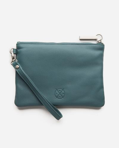 Stitch & Hide Cassie Clutch - Teal