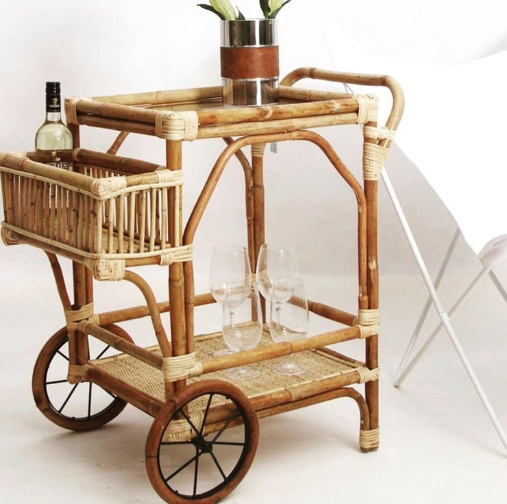 Rattan Drinks Cart
