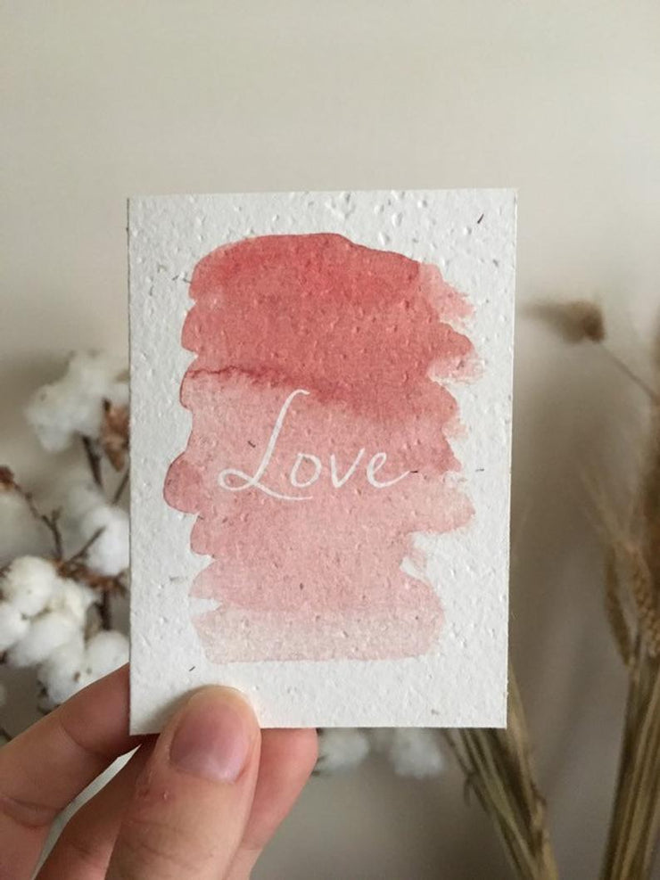 Watercolour Love Seeded Card