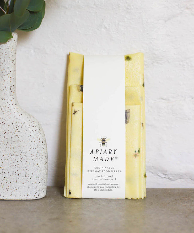 Apiary Made- Illustrated Beeswax Wraps