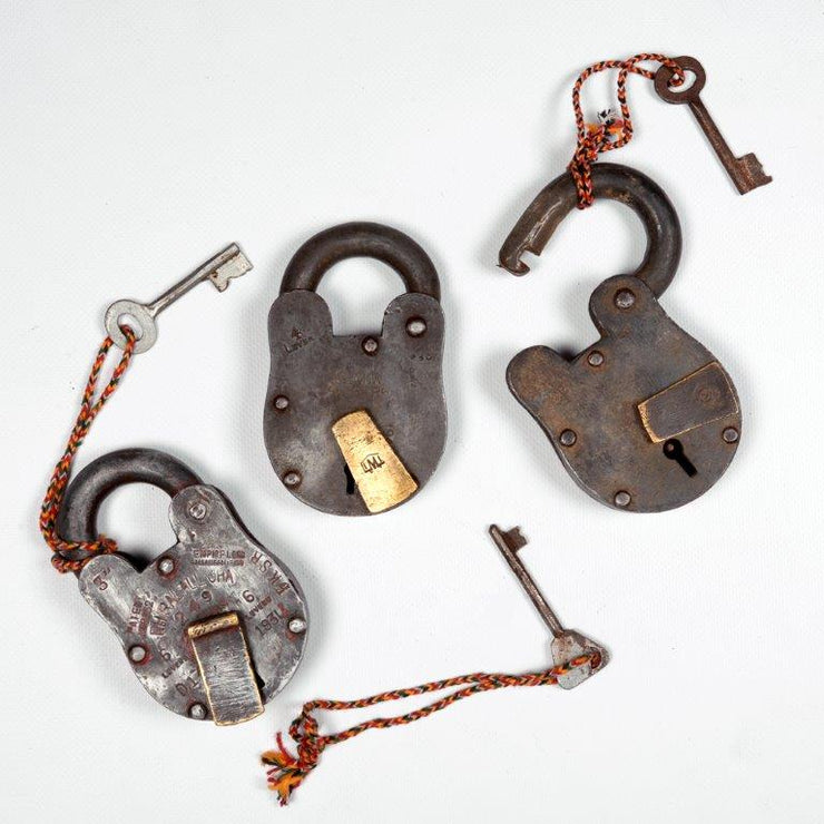 Vintage Iron Lock & Key