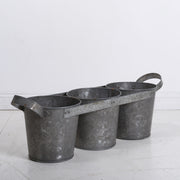Vintage Iron Triple Planter