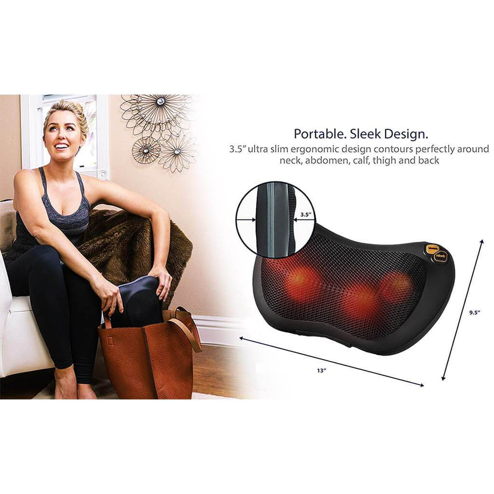 THERAPILLO™ SHIATSU PILLOW MASSAGER WITH HEAT