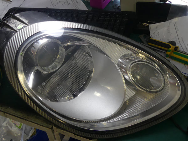 Porsche headlight repair