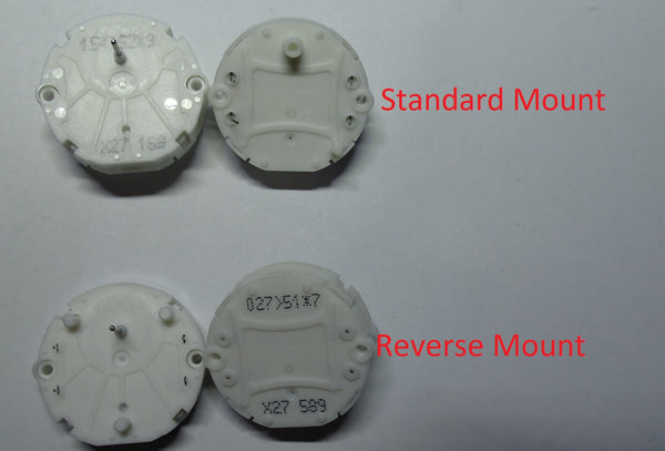 X27 cluster motor, Standard/Reverse Mounting