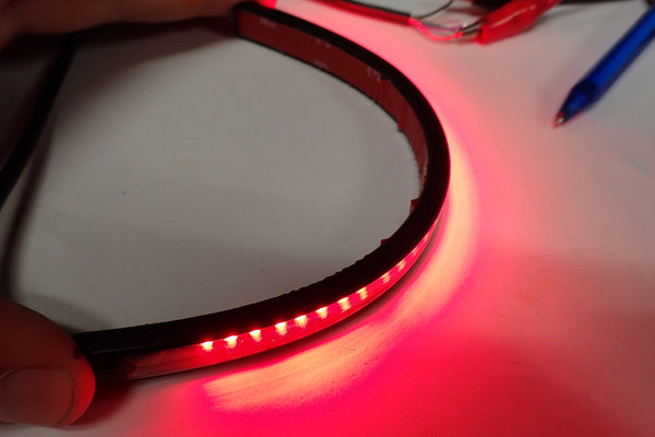 Flexible motorcycle LED tail light self adhesive