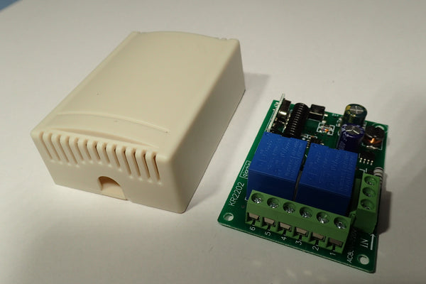 433mHz 2 channel radio remote controlled relay module with enclosure
