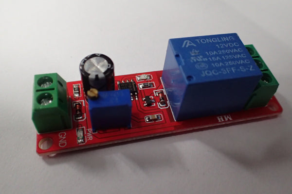 Relay delay-on timer module 555 adjustable 0-10seconds
