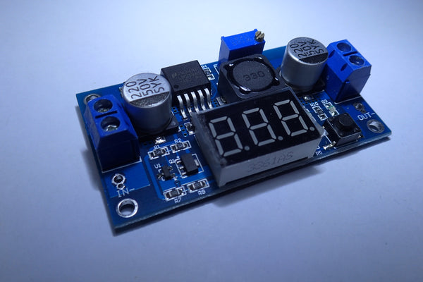 LM2596 DC-DC Adjustable Buck Converter Module 4.0~40V to 1.25~37V Power Supply with LED Display