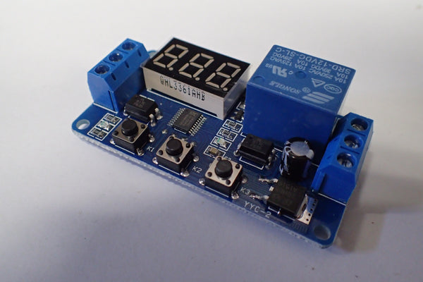 Universal Programmable Timer Relay with LED Display