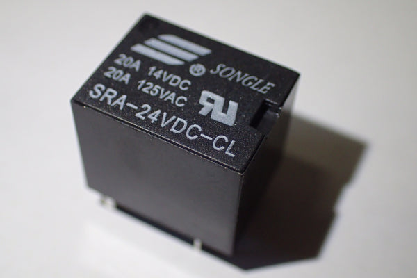24V PCB mount relay SRA-24VDC-CL