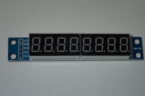 MAX7219 LED display 8 digit