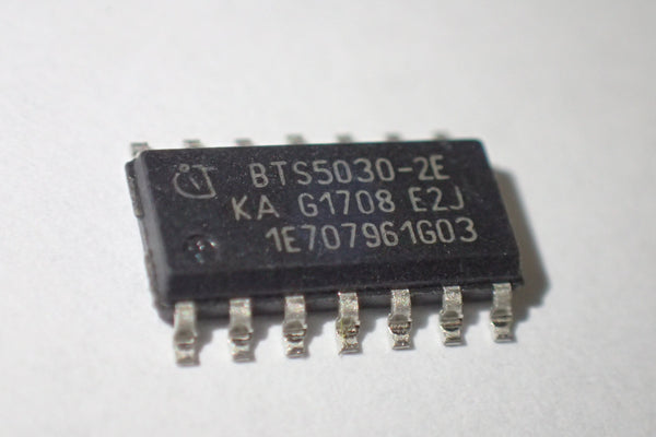 BTS5030-2E, dual smart high side driver switch, SOIC-14, SO-14