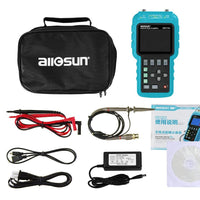 All Sun EM155A 50MHZ 200MSa/S 3in1 Professional Portable Digital Oscilloscope+ Multimeter+ Signal Generator USB ColorLCD Display