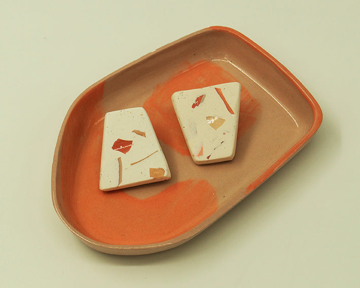 Triangle Terrazzo Earrings