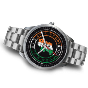 Silver Irish Revolutionaries Logo Unisex Watch