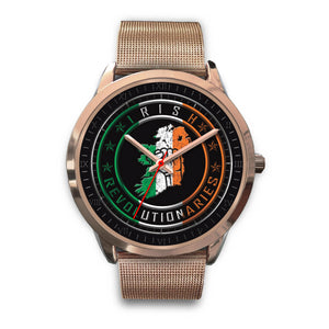 Rose Gold Irish Revolutionaries Logo Unisex Watch