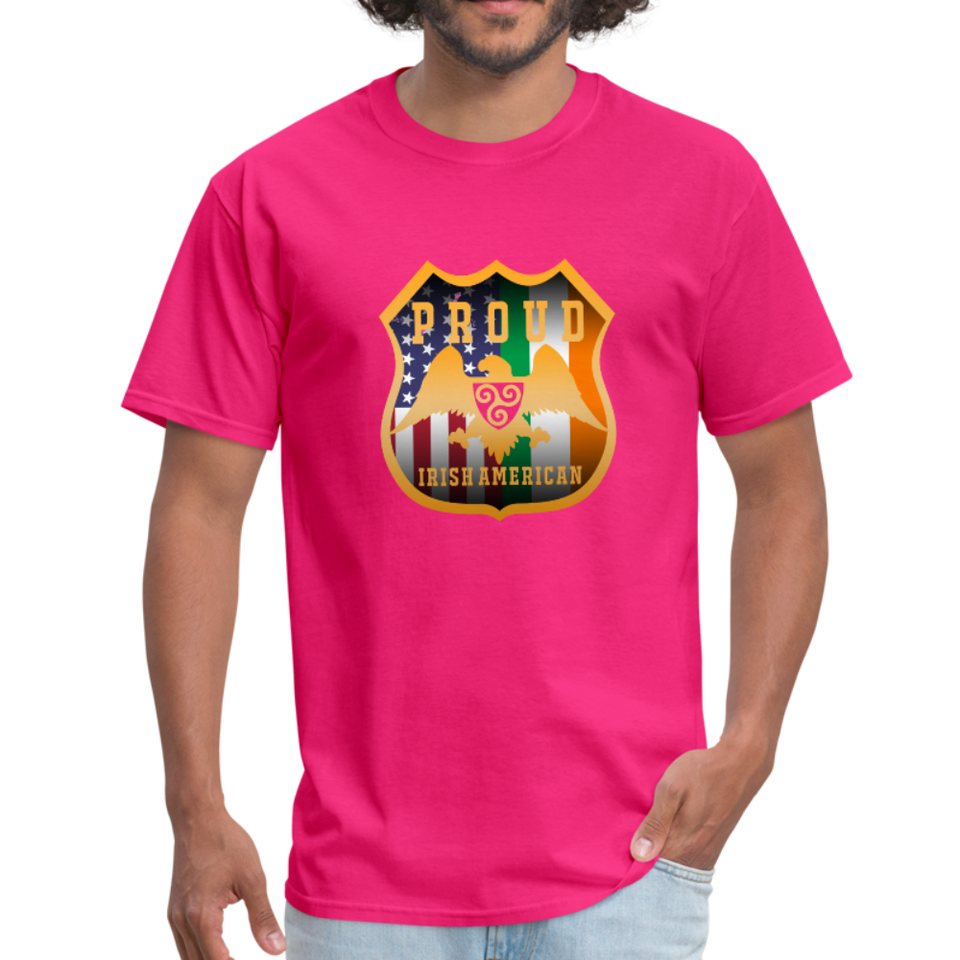 Proud Irish American Men's T-Shirt - fuchsia