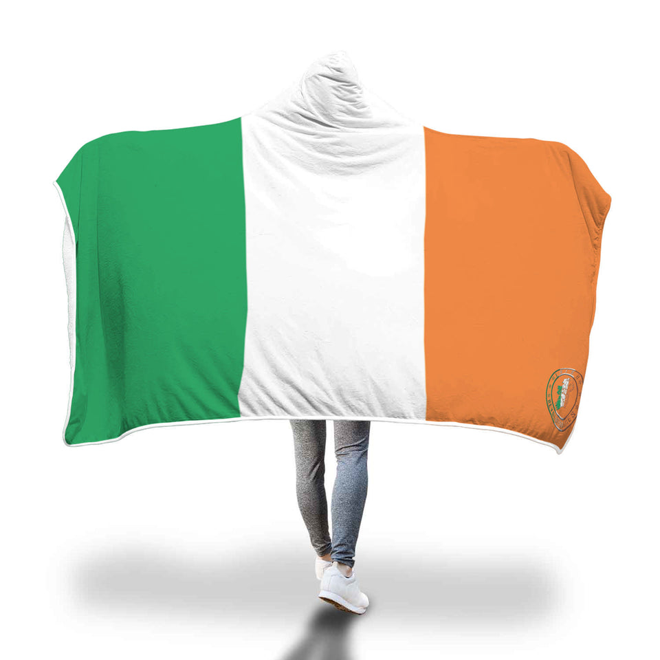 Irish Tricolour Hooded Blanket