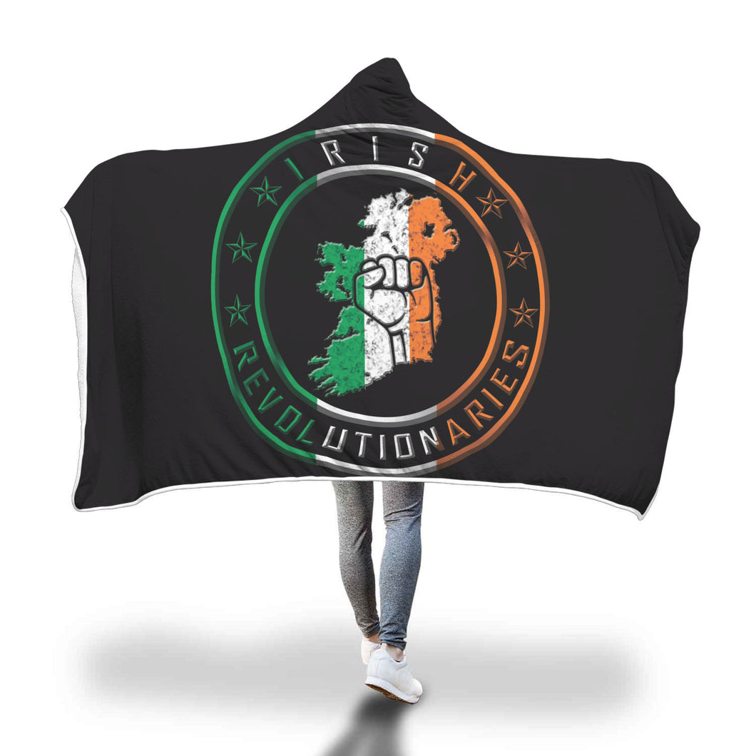 Irish Revolutionaries Logo Hooded Blanket
