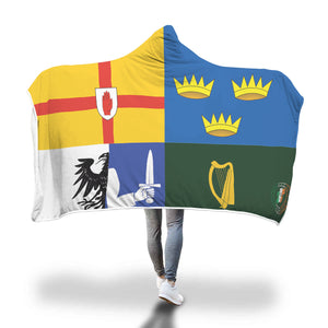 Four Provinces Of Ireland Hooded Blanket