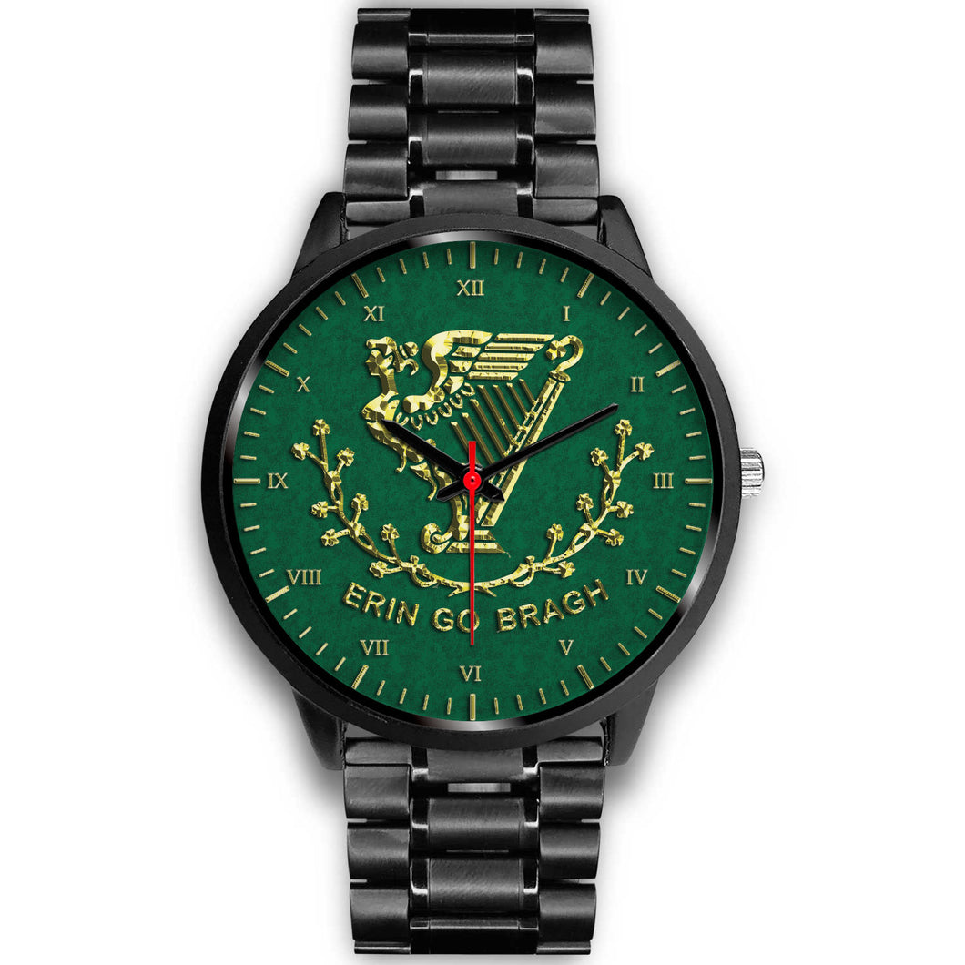 Erin Go Bragh Black Unisex Watch