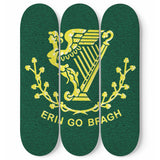 Erin Go Bragh 3 Piece Skateboard Irish Wall Art
